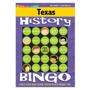 Texas History Bingo Game