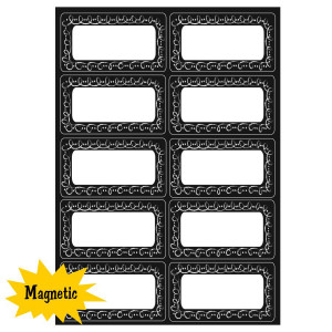 Chalk Loops Magnetic Labels