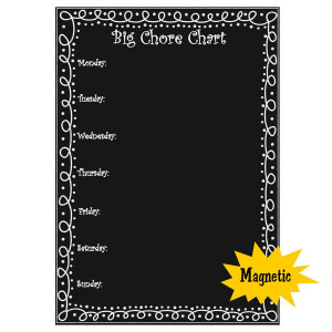 Big Chalkboard Magnetic Chore Chart