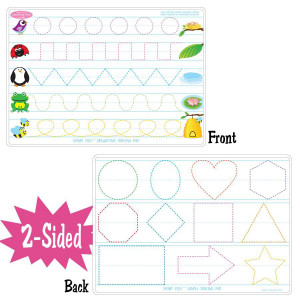 Pre-Writing Smart Poly 2-Sided Learning Mat
