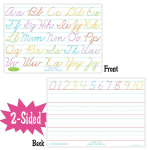 Cursive Writing Smart Poly 2-Sided Learning Mat