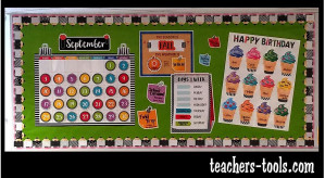 *Bold & Bright Calendar Bulletin Board