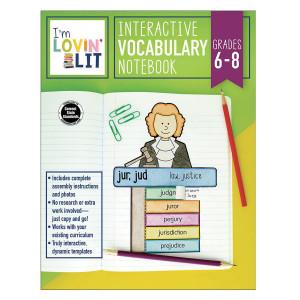 Interactive Vocabulary Notebook-Grades 6-8