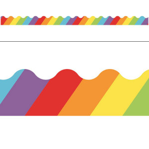 Celebrate Learning Big Rainbow Border
