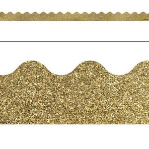 Gold Glitter Border