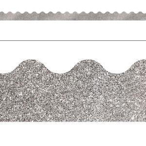 Silver Glitter Border