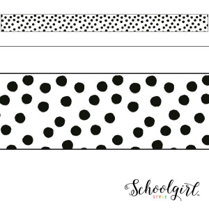 Star Painted Dots Border