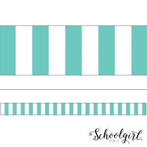 Simply Stylish Turquoise Stripe Border