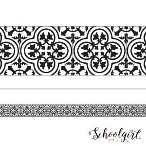 Simply Stylish Black & White Tile Border