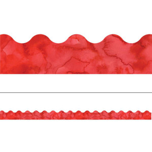 Watercolor Red Border