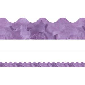 Watercolor Purple Border