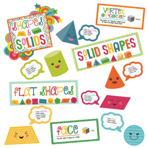 School Pop Shapes & Solids Bulletin Board