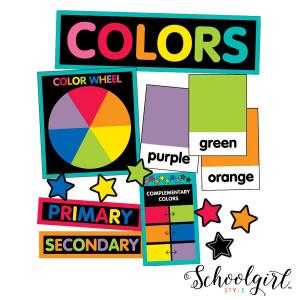 Schoolgirl Style Color Cards Mini Bulletin Board