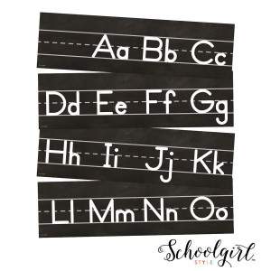 Industrial Chic Alphabet Mini Bulletin Board
