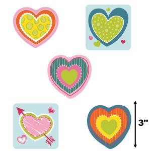 Hearts Valentine Mini Cut-Outs