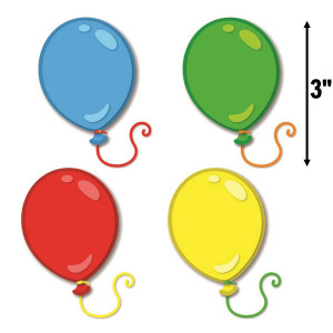 Balloons Mini Assorted Cut-Outs