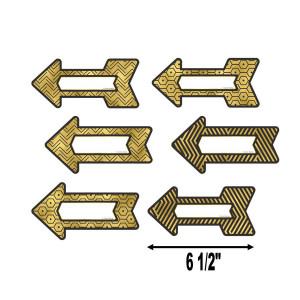 Black & Gold Arrows Cut-Outs