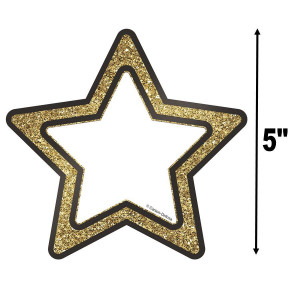 Gold Glitter Stars Cut-Outs