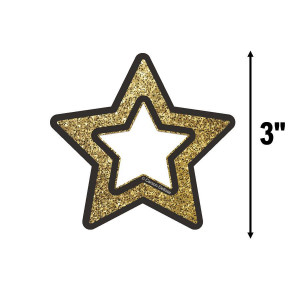 Gold Glitter Stars Small Cut-Outs