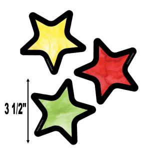 Watercolor Stars Mini Cut-Outs