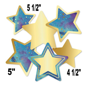 Galaxy Stars Assorted Cut-Outs