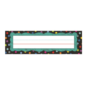 Colorful Chalkboard Nameplates