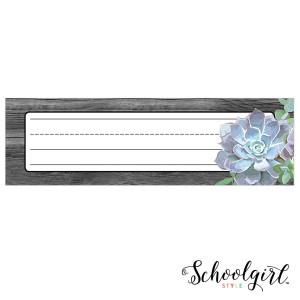 Simply Stylish Succulent Nameplates