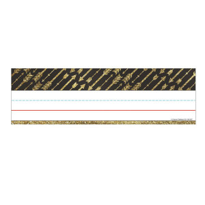 Gold Glitter Arrows Nameplates