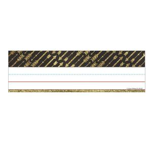 Gold Glitter Arrows Nameplates