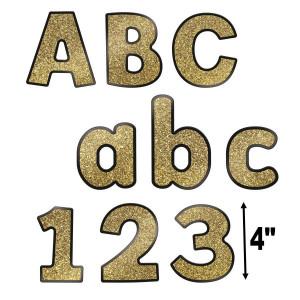 "Gold Glitter 4"" EZ Letters Combo Pack"