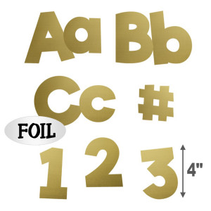 "Gold Foil 4"" EZ Letter Combo Pack"