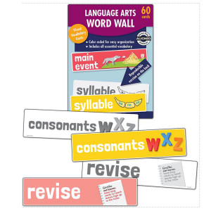 Language Arts Word Wall Learning Cards-Kinder.