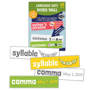Language Arts Word Wall Learning Cards-Grade 1