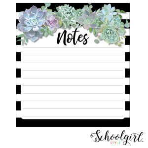 Simply Stylish Succulents Notepad