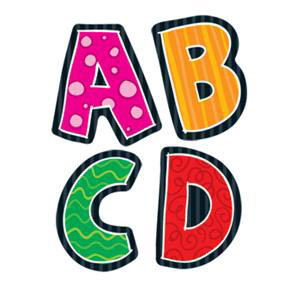 Alphabet Shape Stickers