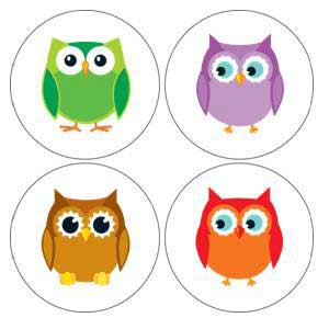 Colorful Owls Incentive Stickers