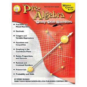 Daily Skill Builders: Pre-Algebra Book