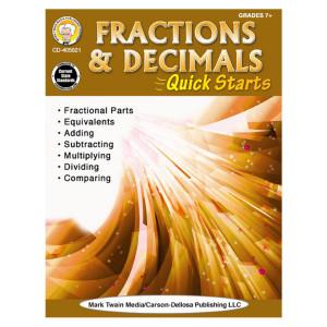 Fractions & Decimals Quick Starts-Grades 4-8+