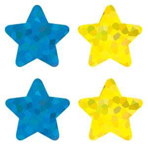 Foil Multicolor Stars Shape Stickers