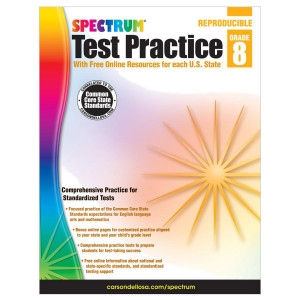 Spectrum Test Practice Book-Grade 8