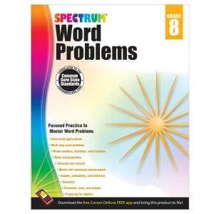 Spectrum Word Problems Workbook-Grade 8