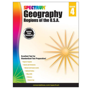 Spectrum Geography-Regions of the USA Grade 4
