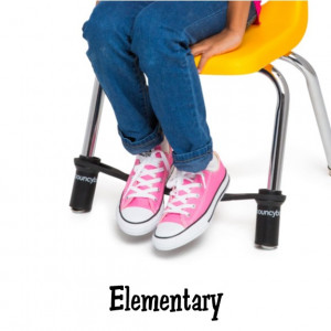 Bouncyband for Elementary School Chairs-Black
