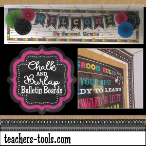 *Chalk & Burlap Bulletin Boards