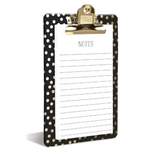 Gold Dots Clipboard