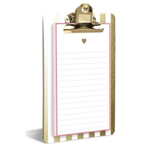 Gold Heart Clipboard