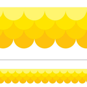 Painted Palette Yellow Ombre Scallop Border