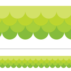 Painted Palette Lime Green Ombre Scallop Border