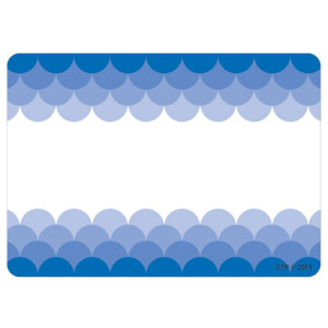 Painted Palette Blue Ombre Scallop Nametags