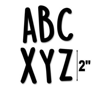 """Core Decor Casual Black 2"""" Letter Stickers"""